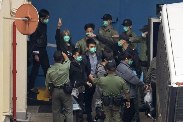 Court hearing for Hong Kong pro-democracy activists enters 4th day
