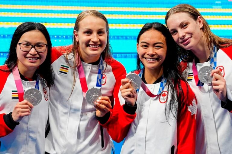 Canada's first Tokyo 2020 Olympic medal won by women's relay swimmers